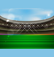 soccer stadium banner football arena with vector image