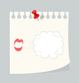 speech bubble on paper note vector image vector image
