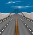 Superhighway scene vector image vector image
