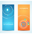 technologic vertical banners vector image vector image