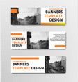 templates of horizontal white banners with orange vector image vector image