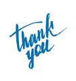 thank you handwritten vector image vector image