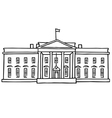 The White House Washington DC vector image vector image