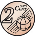 two euro cent coin vector image