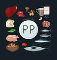 vitamin pp b3 vector image vector image