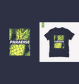 vivid graphic tee design with pineapple stylish vector image