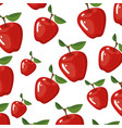 white background with realistic pattern of apples vector image vector image
