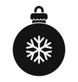 xmas tree ball icon simple style vector image