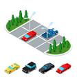 isometric car parking area city transportation vector image