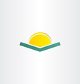 book and sun simple icon vector image