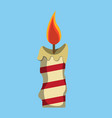 christmas candle xmas icon vector image