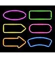 neon signboards vector image