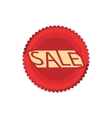 Sale red circle icon cartoon style vector image