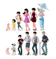 people generations at different ages vector image