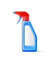 3d spray pistol detergent bottle mockup vector image vector image
