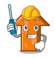 automotive arrow mascot cartoon style vector image vector image