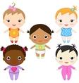 baby girls vector image