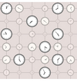 background with different sized clocks vector image vector image