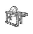 bench grinder sketch vector image vector image