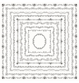black vintage hand drawn square frames vector image vector image