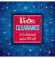 blue christmas background and sale offer vector image vector image