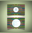 business card with a striped design vector image vector image