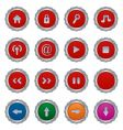 button plates vector image vector image