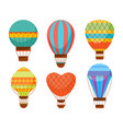 cartoon air baloons set vector image vector image