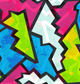 colored graffiti seamless pattern with grunge vector image vector image