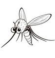comical monochrome mosquito vector image