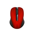 computer wireless mouse - mock up template vector image vector image