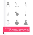 cosmetics icons set vector image vector image
