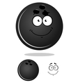 Dark gray cartoon bowling ball vector image