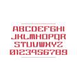 decorative monospaced sans serif font vector image vector image