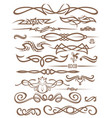 decorative vignettes vector image