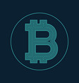 digital bitcoin currency symbol design vector image vector image