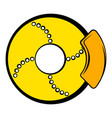 disc brakes icon cartoon vector image