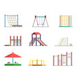 equipment of amusement park playground isolated vector image