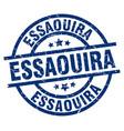 essaouira blue round grunge stamp vector image vector image