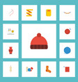 flat icons shop meter skein and other vector image vector image