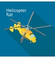 Flat isometric helicopter vector image vector image