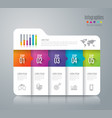 folder infographics design with 5 options vector image vector image
