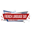 french language day banner design vector image