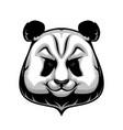 giant panda bear mascot wild animal head icon vector image