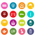 great britain icons many colors set vector image vector image