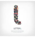 group people shape letter L vector image