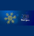 happy new year 2018 gold glitter holiday snow vector image