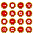 infographic design parts icon red circle set vector image