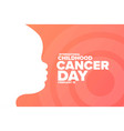 international childhood cancer day february vector image vector image