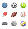 inventory icons set cartoon style vector image